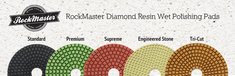 RockMaster Diamond Resin Polishing Pads