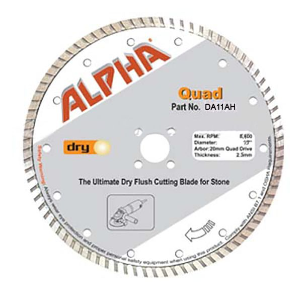 Flush Cut Adapter Flange for Diamond Blades Quad Hole Mount and blade
