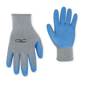 CLC 2030 Med Blue Rubber Palm Grip Gloves