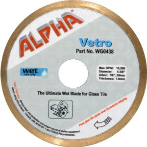 Alpha Vetro Wet Glass Blade - 4-3/8