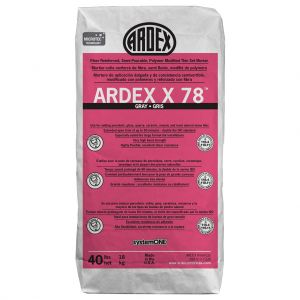 Ardex X 78 MICROTEC Semi-Pourable Tile and Stone Mortar