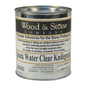 Axson Wood & Stone Polyester Water Clear Knife Grade Adhesive - Quart
