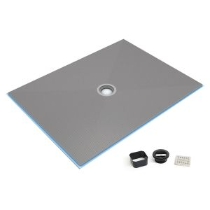 Wedi Fundo Ligno Curbless Shower Pan (Base) w/center drain - Wedi Curbless Shower System