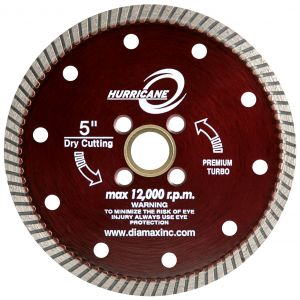 Diamax Hurricane Granite Turbo Diamond Blade - 5