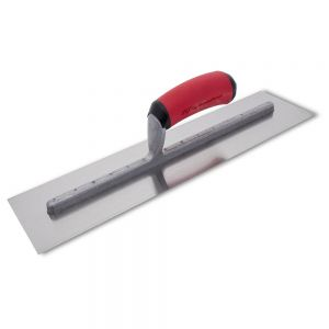 Marshalltown QLT Finishing Trowels w/ Red Soft Grip Handle - 16