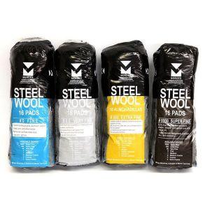 Mercer Abrasives Steel Wool Pads - 16 Pack