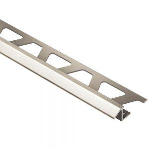 Schluter RENO-TK Reducer Tile Edging Trim - Brushed Nickel (ATGB)