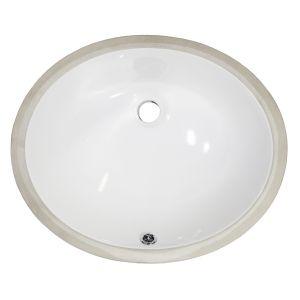 MasterSink White Undermount Porcelain Sink P205