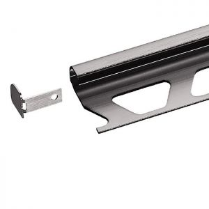 Schluter RONDEC Stainless Steel Tile Trim - End Cap