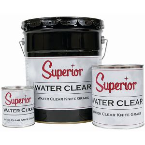 Superior Adhesives Water Clear Knife-Grade Polyester Adhesive - Quart