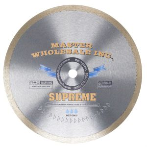 Master Wholesale Supreme Continuous Rim Wet Diamond Blade - 10''