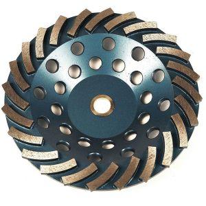 RockMaster Turbo Segmented Diamond Concrete Grinding Cups