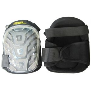 Master Wholesale Clear Hard Cap Black Gel Knee Pads