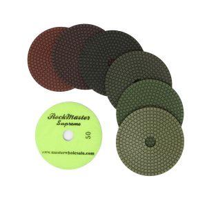 RockMaster Supreme Wet Polishing Pads - 5